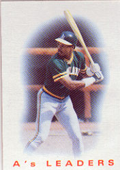 1986 Topps Baseball Cards      216     As Leaders#{Dwayne Murphy