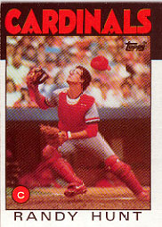 1986 Topps Baseball Cards      218     Randy Hunt