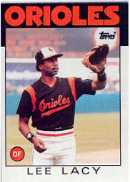 1986 Topps Baseball Cards      226     Lee Lacy