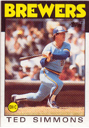 1986 Topps Baseball Cards      237     Ted Simmons