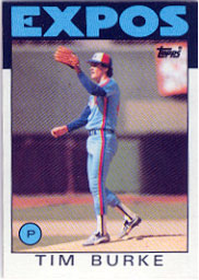 1986 Topps Baseball Cards      258     Tim Burke