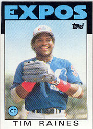 1986 Topps Baseball Cards      280     Tim Raines