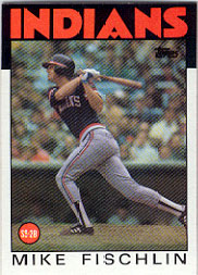 1986 Topps Baseball Cards      283     Mike Fischlin