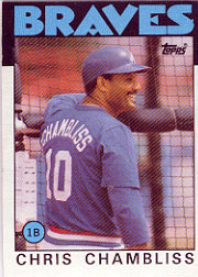 1986 Topps Baseball Cards      293     Chris Chambliss