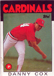 1986 Topps Baseball Cards      294     Danny Cox