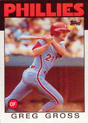 1986 Topps Baseball Cards      302     Greg Gross