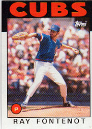 1986 Topps Baseball Cards      308     Ray Fontenot