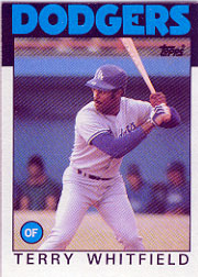1986 Topps Baseball Cards      318     Terry Whitfield