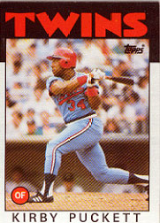 1986 Topps Baseball Cards      329     Kirby Puckett