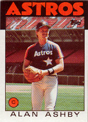 1986 Topps Baseball Cards      331     Alan Ashby