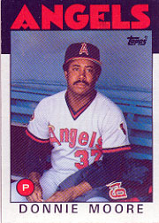 1986 Topps Baseball Cards      345     Donnie Moore