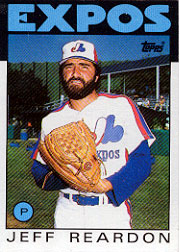 1986 Topps Baseball Cards      035      Jeff Reardon