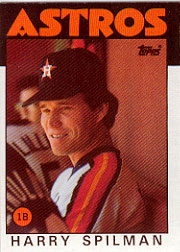 1986 Topps Baseball Cards      352     Harry Spilman