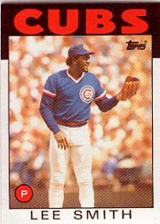 1986 Topps Baseball Cards      355     Lee Smith