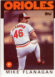 1986 Topps Baseball Cards      365     Mike Flanagan