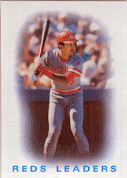 1986 Topps Baseball Cards      366     Reds Leaders#{Dave Concepcion