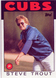 1986 Topps Baseball Cards      384     Steve Trout