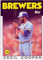 1986 Topps Baseball Cards      385     Cecil Cooper