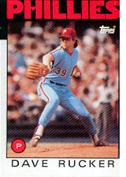 1986 Topps Baseball Cards      039      Dave Rucker