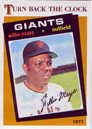 1986 Topps Baseball Cards      403     Willie Mays TBC