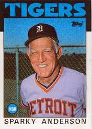 1986 Topps Baseball Cards      411     Sparky Anderson MG