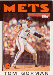 1986 Topps Baseball Cards      414     Tom Gorman