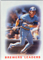 1986 Topps Baseball Cards      426     Brewers Leaders#{Charlie Moore