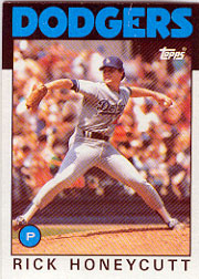 1986 Topps Baseball Cards      439     Rick Honeycutt