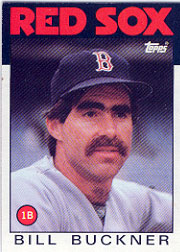 1986 Topps Baseball Cards      443     Bill Buckner