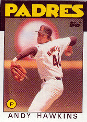 1986 Topps Baseball Cards      478     Andy Hawkins