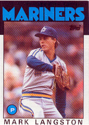 1986 Topps Baseball Cards      495     Mark Langston
