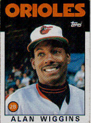 1986 Topps Baseball Cards      508     Alan Wiggins