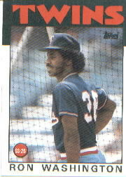 1986 Topps Baseball Cards      513     Ron Washington
