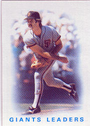 1986 Topps Baseball Cards      516     Giants Leaders#{Greg Minton