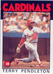 1986 Topps Baseball Cards      528     Terry Pendleton