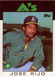 1986 Topps Baseball Cards      536     Jose Rijo