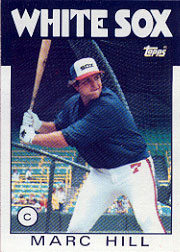1986 Topps Baseball Cards      552     Marc Hill