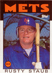1986 Topps Baseball Cards      570     Rusty Staub