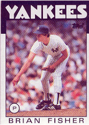1986 Topps Baseball Cards      584     Brian Fisher RC
