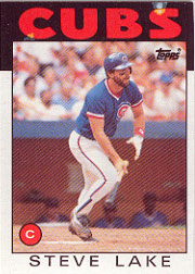 1986 Topps Baseball Cards      588     Steve Lake