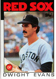 1986 Topps Baseball Cards      060      Dwight Evans