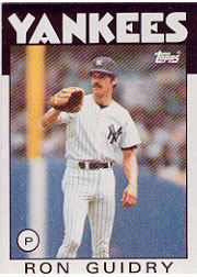 1986 Topps Baseball Cards      610     Ron Guidry