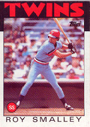 1986 Topps Baseball Cards      613     Roy Smalley