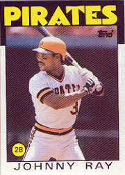 1986 Topps Baseball Cards      615     Johnny Ray
