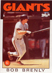 1986 Topps Baseball Cards      625     Bob Brenly