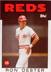 1986 Topps Baseball Cards      627     Ron Oester