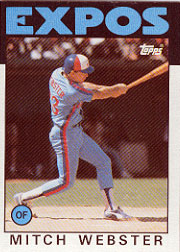 1986 Topps Baseball Cards      629     Mitch Webster