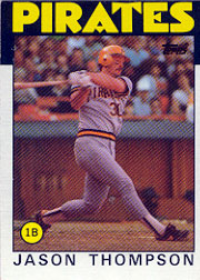 1986 Topps Baseball Cards      635     Jason Thompson