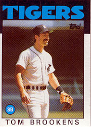 1986 Topps Baseball Cards      643     Tom Brookens