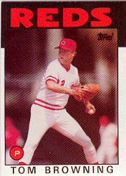 1986 Topps Baseball Cards      652     Tom Browning